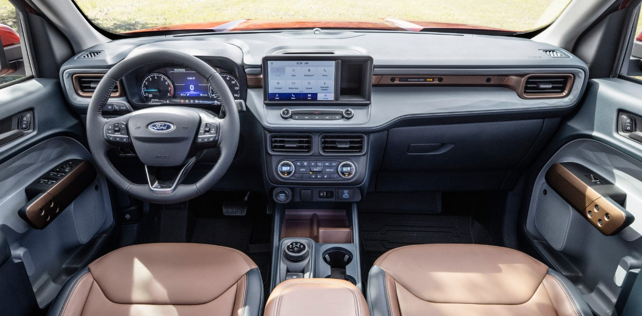 The cabin of of the Ford Maverick is claimed to be very driver-centric with its minimal yet practical approach.