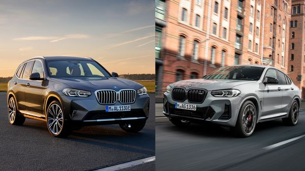 Refreshed BMW X3 (left) and BMW X4