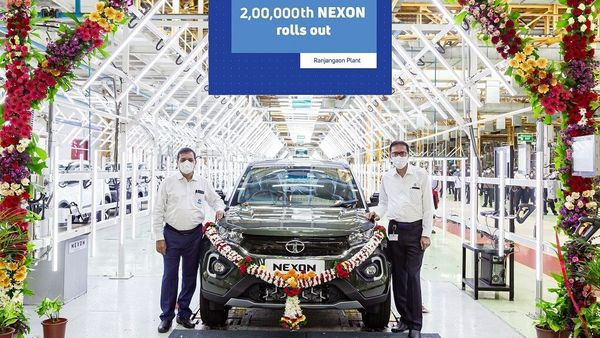 Tata Motors rolled out the 2,00,000th Nexon SUV from its Ranjangaon plant today.