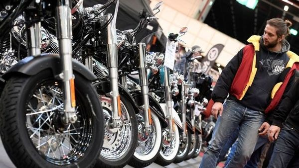 The overall motorcycle sales were down 56% to 2,95,257 units in May. (File Photo) (REUTERS)