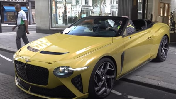 Screengrab of the Bentley Bacalar in the video posted by TheTFJJ.
