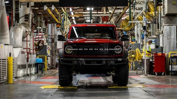 Production of the 2021 Ford Bronco SUV is underway at the Michigan Assembly Plant in US.