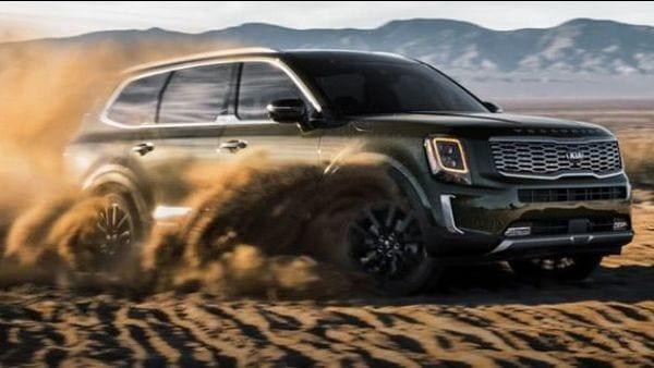 KIa Telluride is a three-row mid-size SUV.
