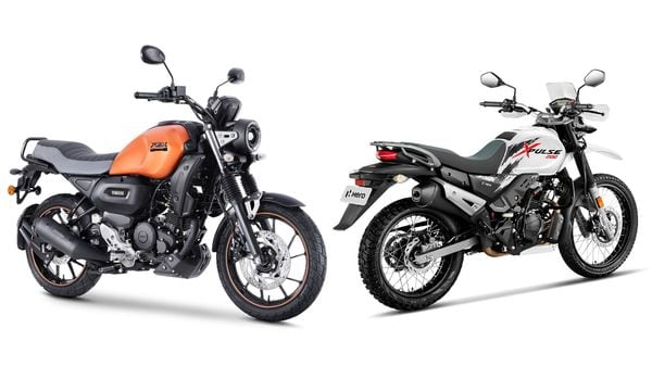 The FZ-X (left) is meant solely for road use unlike the Hero XPulse (right) it aims to rival, both the bikes are priced very closely.