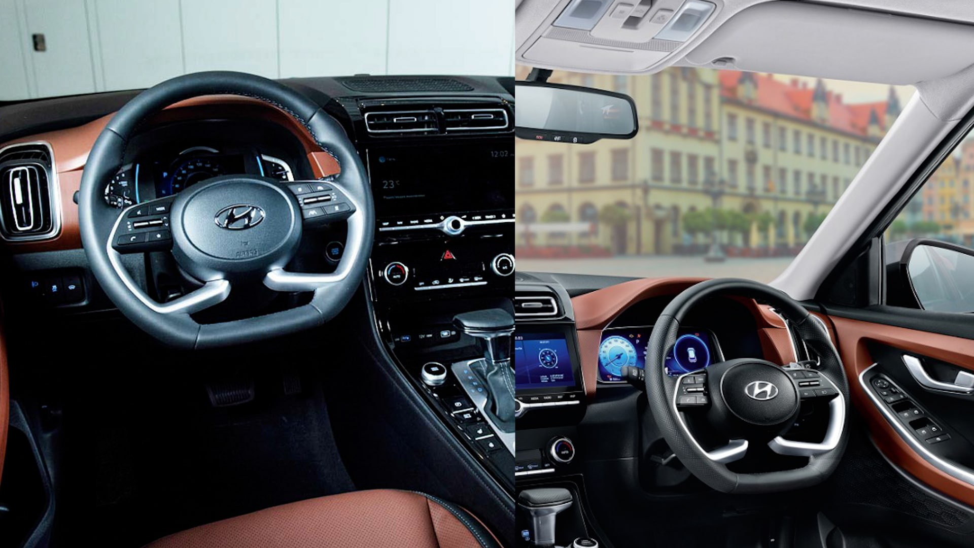 The interior of the new Creta and Alcazar also get similar treatment inside the cabin, Even the dual-tone colours offered in both SUVs appear similar. The steering wheels, AC vents, and the gearbox are identical in both the vehicles.