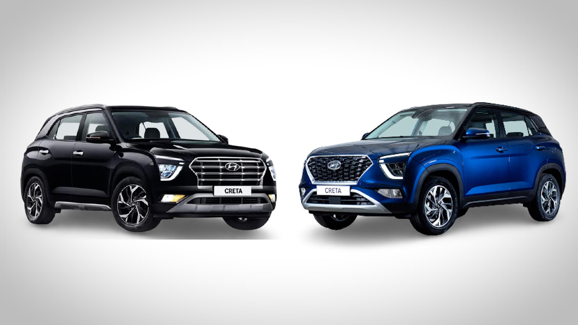 Hyundai Creta SUV currently available in India (left) may soon be replaced by the 2022 Creta unveiled in Russia (right). It may also carry some of the other features that are now available in the Alcazar SUV as well. Detailed specification of the 2022 Creta will be announced later.