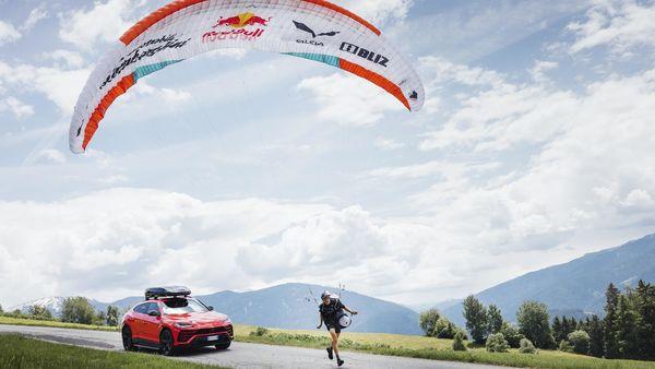 Lamborghini Urus and paragliding champion Aaron Durogati