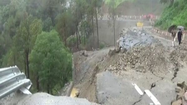 The road is not worthy of transportation after the damage. (Image: ANI)