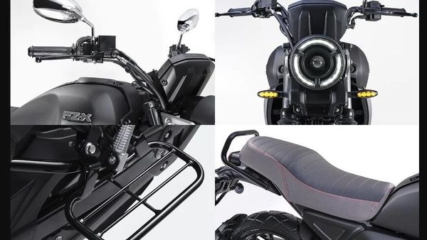The seat cover for the FZ-X motorcycle costs the lowest at ₹300.