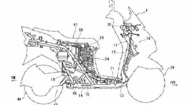 The patent shows new details of Suzuki's electric scooter
