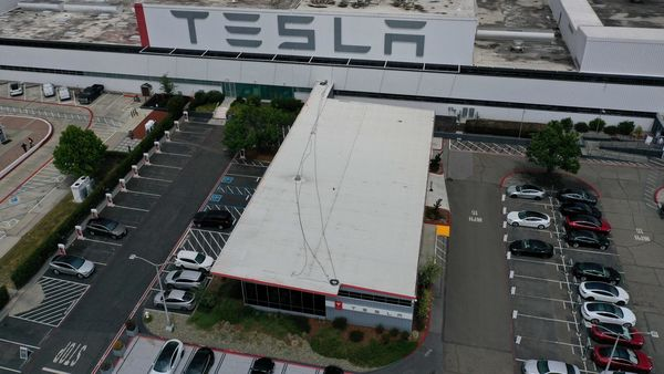 Panasonic recently lost its status as Tesla's exclusive battery supplier but has been able to turn around the US joint battery business as demand for Tesla's electric cars soars. (AFP)