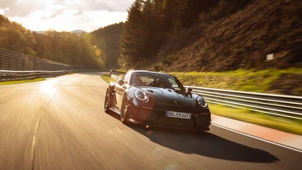 The 911 GT2 RS was kitted with the Manthey Performance Kit.