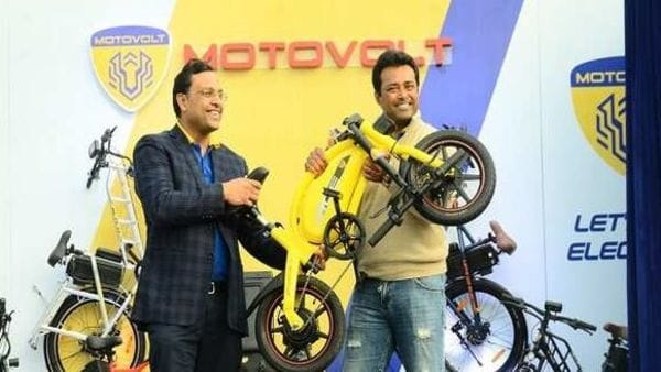 Motovolt unveiled four variants of the e-cycles. Image: ANI