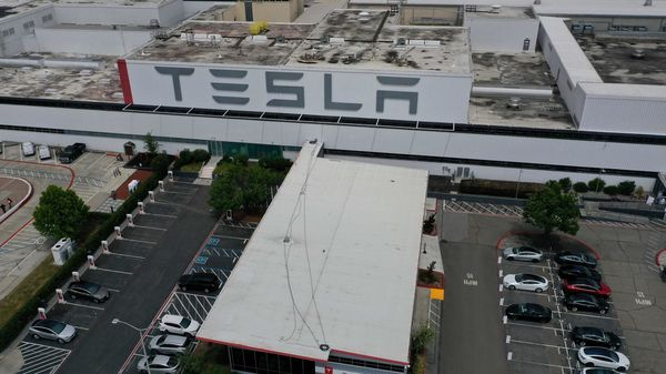 Panasonic lost its status as Tesla's exclusive battery supplier, but has been able to turn around the U.S. joint battery business as demand for Tesla's electric cars soar. (AFP)