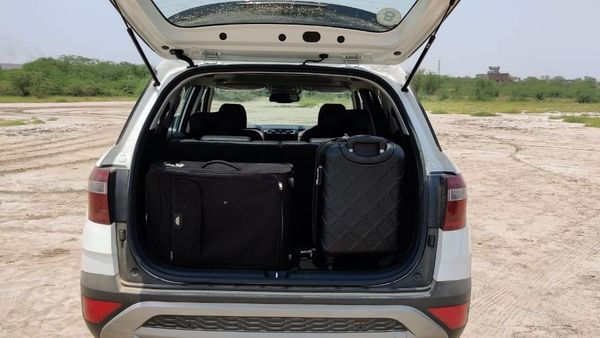 With all seats up, Alcazar has 180 litres of space in the boot - enough for one medium-sized suitcase and another cabin suitecase.