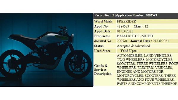 Bajaj applied for the trademark on March 1, 2021 and the same has already been approved as of June 21.