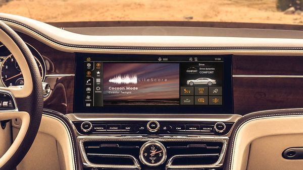 For a 60 minute drive, one gets a soundbank library that contains a comprehensive suite of audio data and recordings from which more than 100 billion unique music tracks can be created. (Bentley)