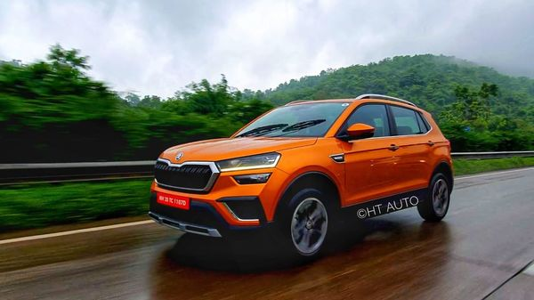 Skoda Kushaq is the first mid-size SUV from the Czech carmaker in India and is looking at creating a strong space for itself in the segment. (HT Auto/Sabyasachi Dasgupta)