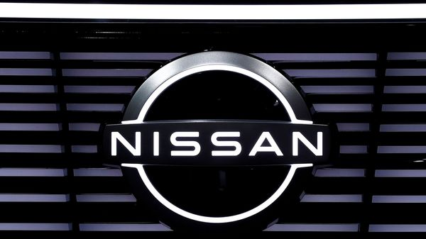 FILE PHOTO: A Nissan logo is pictured