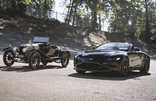 Aston Martin Vintage Roadster (R) and the brand's oldest surviving car