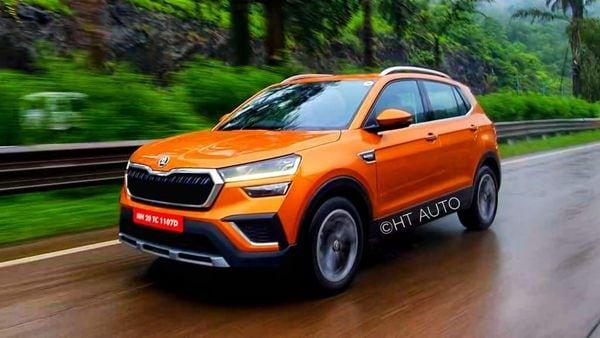 Skoda Kushaq SUV has launched in the Indian car market today. (HT Auto/Sabyasachi Dasgupta)