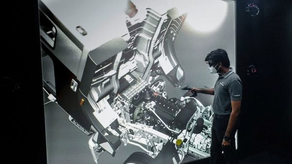The virtual reality centre will be operated using 3D goggles and navigational joysticks. (Daimler)