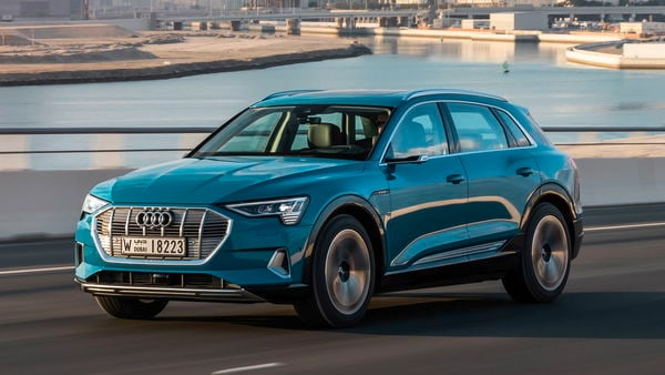 Audi e-tron is powered by a 95kWh battery and can hit 100 kmph in 5.7 seconds.(Photo courtesy: e-tron.audi/en)