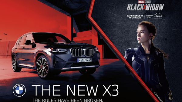 BMW will use two of its cars in the new Black Widow movie. (BMW)