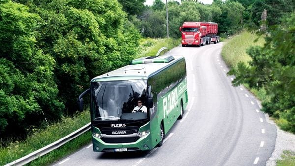 The Scania biogas powered bus is claimed to emit 90% less pollutants compared to fossil-fuel vehicles.