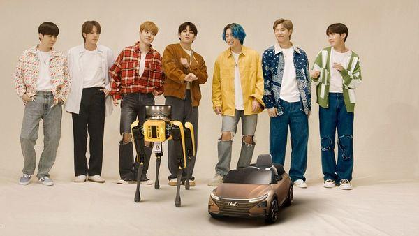 Pop icon BTS dances with robots as Hyundai acquires Boston Dynamics