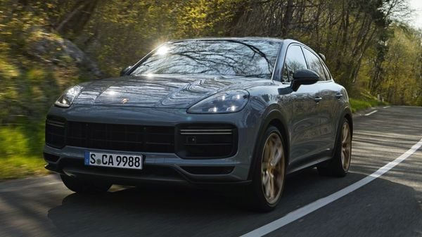 The 2021 Porsche Cayenne Turbo GT is based on the Cayenne Coupe Turbo and is positioned at the top of the Cayenne's range. It is powered by a 4.0-litre Biturbo V8 engine and can generate 631 horsepower and 849 Nm of torque.