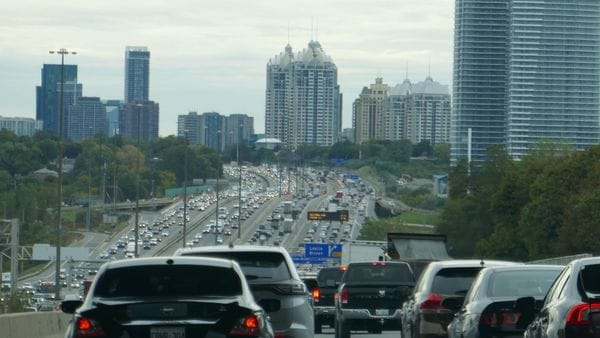 Traffic on the roads of Toronto, Canada. (File photo used for representational purpose)