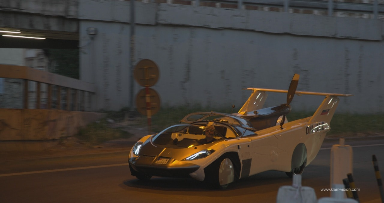 The flying car can transform from an aircraft to a sportscar in less than three minutes.