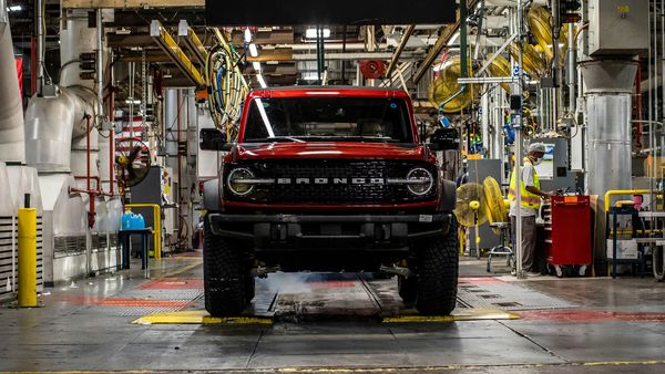 File photo: 2021 Ford Bronco SUV at the Michigan Assembly Plant in US.