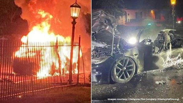 A Tesla Model S Plaid caught fire in a suburb of Philadelphia and several fire rescue teams were involved in bringing the blaze under control.