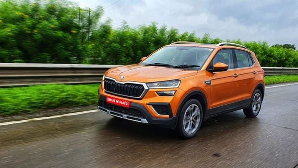 Skoda launched the mid-size Kushaq SUV in India at a starting price of ₹10.50 lakh. (Photo: HT Auto/Sabyasachi Dasgupta)