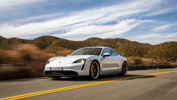 The all-electric Porsche Taycan. (File photo)