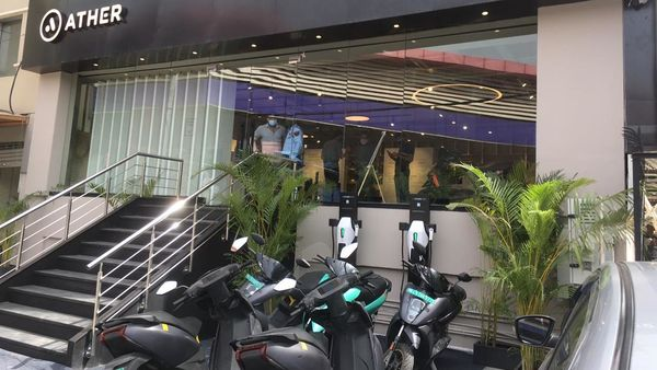 Ather Energy launches its first Ather Space in Lajpat Nagar, Delhi. (Photo courtesy: Twitter/@tarunsmehta)
