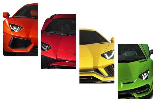 Evolution of Lamborghini Aventador sports car over ten years
