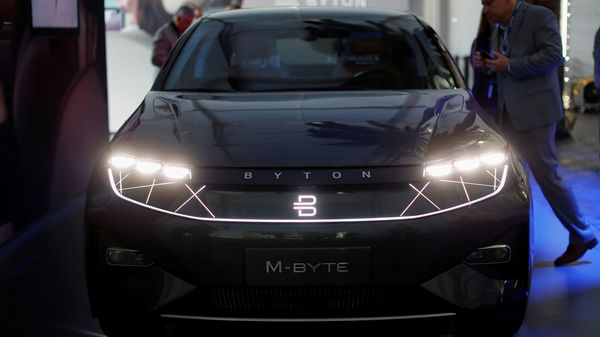 Joining with Foxconn was seen as a lifeline for Byton, which has struggled to produce its first vehicle, having unveiled its M-Byte concept car several years ago. (REUTERS)