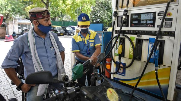 Delhi is selling a litre of petrol and diesel at ₹100.56 and ₹89.62 respectively.