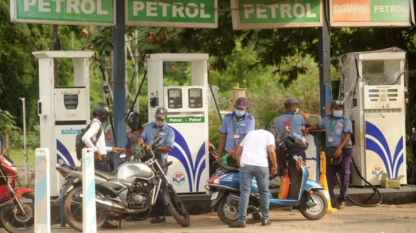 Petrol price on Monday has been increased by 34 paise after a day of pause. (Photo by Vijay Bate/HT Photo)