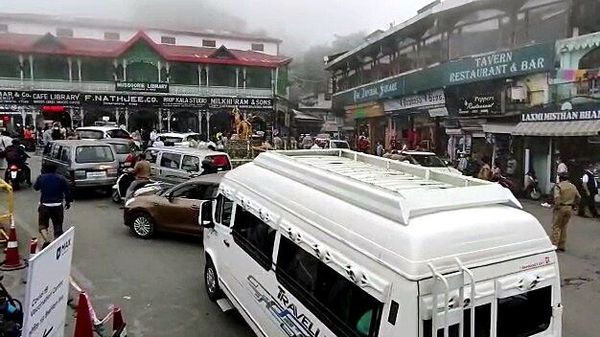 The Uttarakhand government has tightened the Covid curbs after influx of tourists in Mussoorie and Nainital. (ANI)