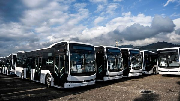 File photo of electric buses used for representational purpose. (AFP Photo)