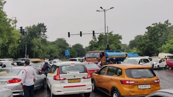 In many places of the national capital, traffic came to a near standstill with commuters stuck for hours. (HT Auto)