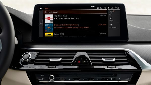 Photo: BMW in-car news app