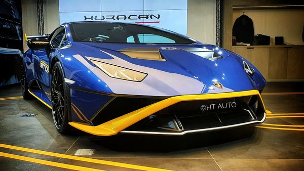 Lamborghini has officially launched the Huracan STO in the Indian car market on Thursday at <span class='webrupee'>₹</span>4.99 crore (ex showroom). The road-homologated super sports car is inspired by the racing heritage of Lamborghini Squadra Corse's one-make Huracan Super Trofeo EVO race series, (HT Auto)