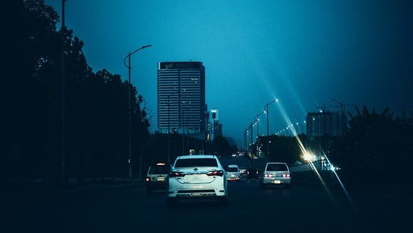File photo of a main arterial road in the city of Islamabad.