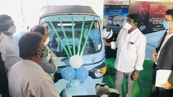Piaggio's new electric 3-wheelers were introduced in presence of Puvvada Ajay Kumar, Transport Minister, Government of Telangana, at Transport Bhavan, Hyderabad.