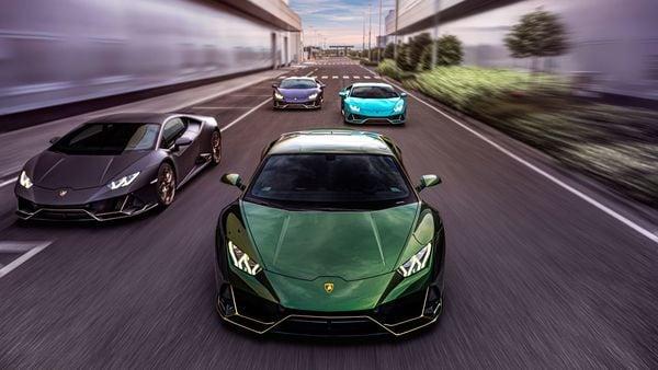 Lamborghini Mexico's four special editions of Huracan EVO. (Lamborghini)